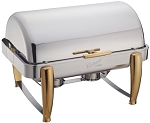 8 Qt. Full-Size, Gold Accent Virtuoso Line Chafer