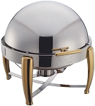 6 Qt. Round, Gold Accent Virtuoso Line Chafer
