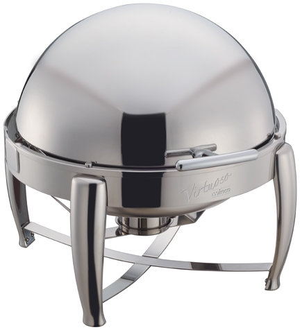 6 Qt. Round, Stainless Steel Virtuoso Line Chafer