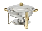 4 Qt. Round Gold-Accented Malibu Collection Chafer