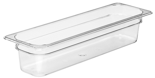 Half Size Long Polycarbonate Food Pan Clear 4