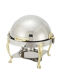 6 Qt. Round, Roll Top, Gold Accent Vintage Line Chafer