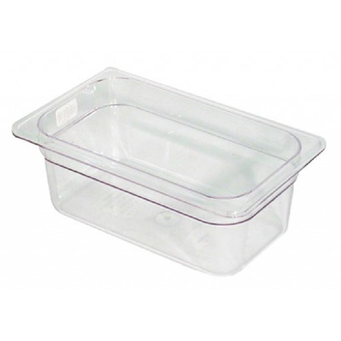 Quarter Size Polycarbonate Food Pan Clear 2