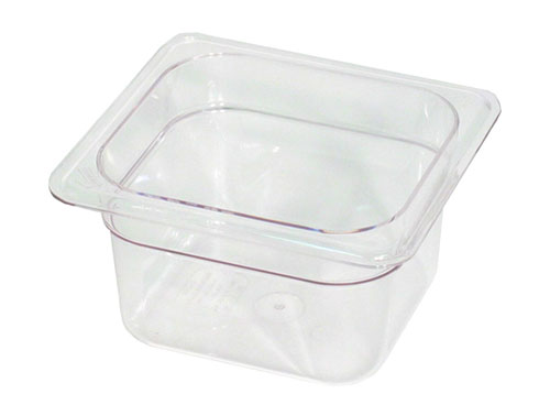 Sixth Size Polycarbonate Food Pan Clear 2