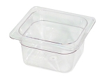 Sixth Size Polycarbonate Food Pan Clear 6