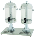 2 x 7-1/2 Stainless Steel Double Juice Dispensers