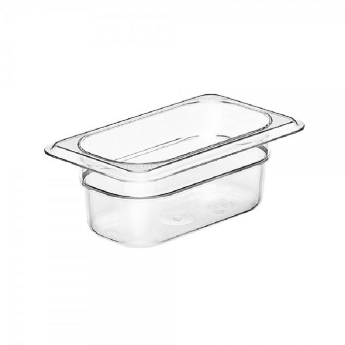 Ninth Size Polycarbonate Food Pan Clear 2-1/2
