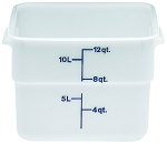 12 Quart Square Poly White Storage Container
