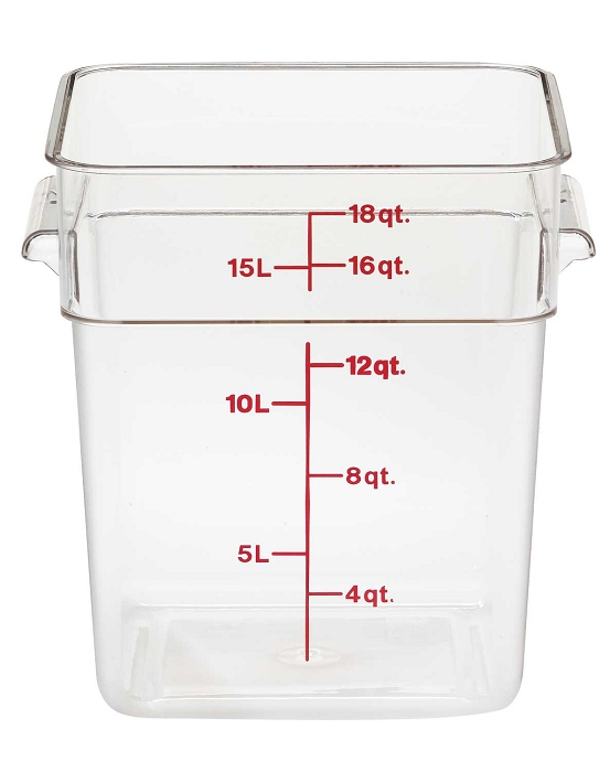 Cambro 18sfscw 18 Quart Square Food Storage Container Camwear