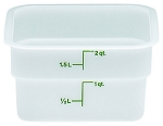 2 Quart Square Poly White Storage Container