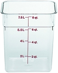 8 Quart Square Polycarbonate Clear Storage Container