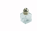 1/2 Ounce Square Glass Shaker Brass Top (dz)