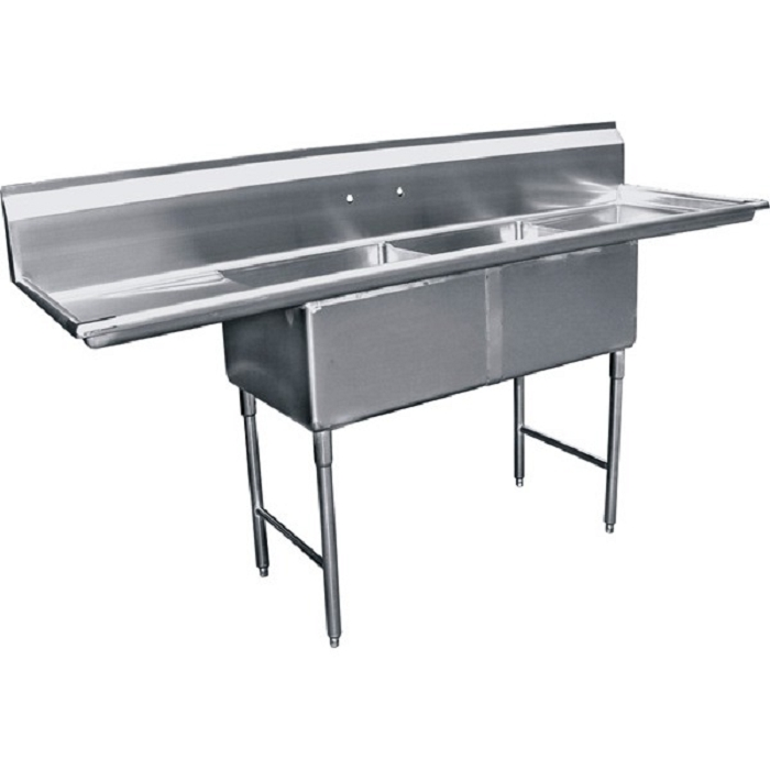 Two Tub Stainless Sink 18