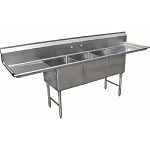 Three Tub Stainless Sink 18