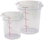 1 Quart Round Food Storage Container Clear Polycarbonate