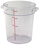 4 Quart Round Food Storage Container Clear Polycarbonate