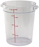 8 Quart Round Food Storage Container Clear Polycarbonate