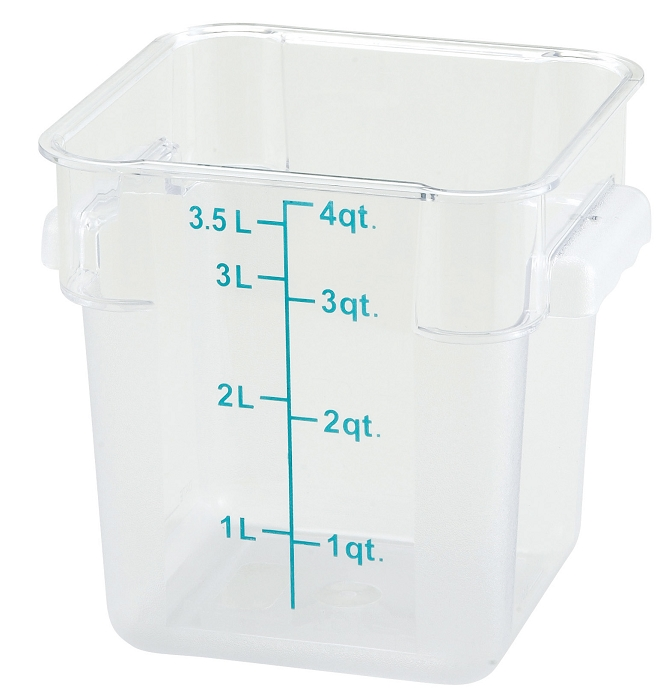 4qt Square Food Storage Container Clear Polycarbonate