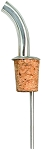 Metal Liquor Pourer w/ Gooseneck Spout Natural Cork  (dz)
