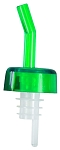 Whiskey Free Flow Pourer Forest Green Medium Flow (dz)