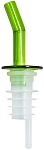 Whiskey Free Flow Pourer Green Spout No Collar (dz)