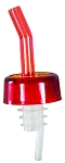 Whiskey Free Flow Pourer Red Medium Flow (dz)