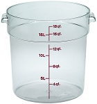18 Quart Camwear Polycarbonate Round Food Storage Container