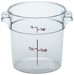 1 Quart Camwear Polycarbonate Round Food Storage Container
