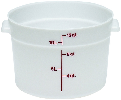 Cambro RFS12 12 quart Round Poly Food Storage Container