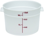 12 Quart Poly Round Food Storage Container