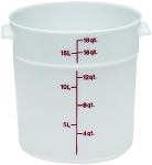 18 Quart Poly Round Food Storage Container