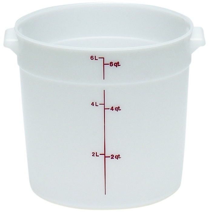 6 Quart Poly Round Food Storage Container