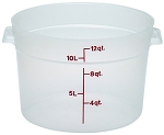 12 Quart Transslucent Round Food Storage Container