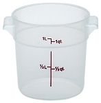 1 Quart Transslucent Round Food Storage Container