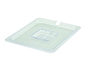 Half Size Polycarbonate Food Pan Cover Slotted