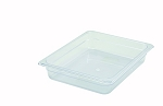 Half Size Polycarbonate Food Pan Clear 2-1/2