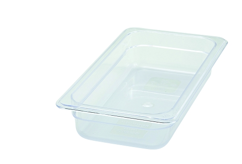 Third Size ( 1/3 ) Polycarbonate Food Pan Clear 2-1/2
