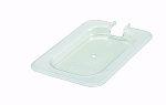 Ninth (1/9) Size Polycarbonate Food Pan Cover Slotted