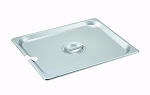 Half size Stainless Steam Table Pan Cover Slotted