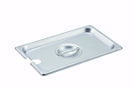 1/4 size Stainless Steam Table Pan Cover Slotted