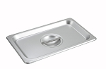 1/4 size Stainless Steam Table Pan Cover Solid