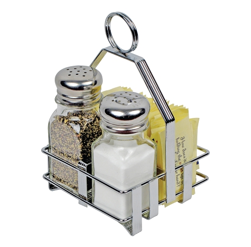 Salt & Pepper Shaker & Sugar Packet Holder