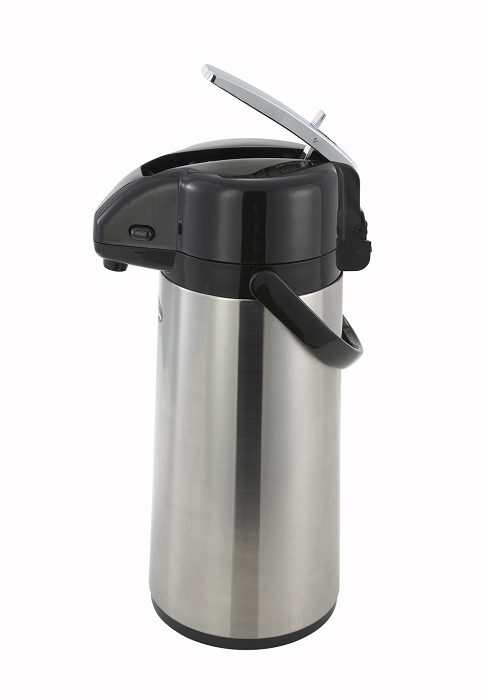 2.5 Liter Glass Lined Stainless Body Lever Top Air Pot