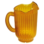60 ounce 3 Spout Water Pitcher Polycarbonate Amber