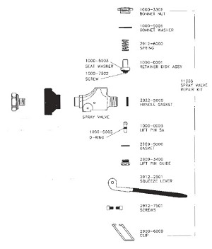 Fisher 11355 Spray Valve Repair Kit