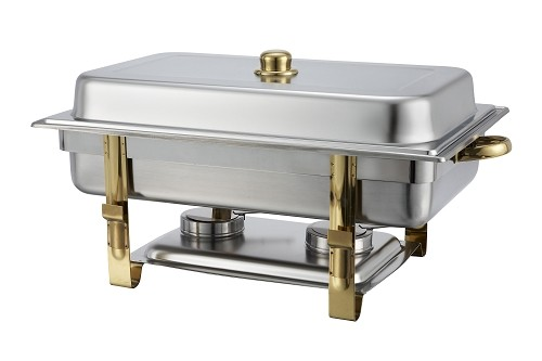 8 Qt. Full-Size, Gold-Accented Malibu Collection Chafer