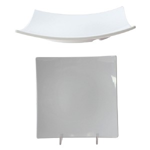 "10"" Melamine Flare Plate 1-3/"" Deep in Classic White (each)"