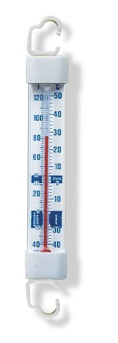 Refrigerator/Freezer Glass Tube Thermometer w/2 Brackets