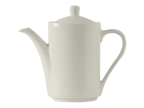 21oz AlumaTux Modena Coffee Pot with Lid in Pearl White (dz)