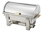 8 Qt. Full-Size, Roll Top Gold Accent Dallas Collection Chafer